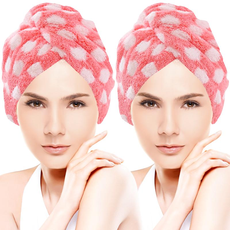 Topi Rambut Kering Wanita Menyerap Air Dewasa Handuk Pengering Rambut Rambut  Panjang Lebih Tebal Topi Mandi be9720d85d