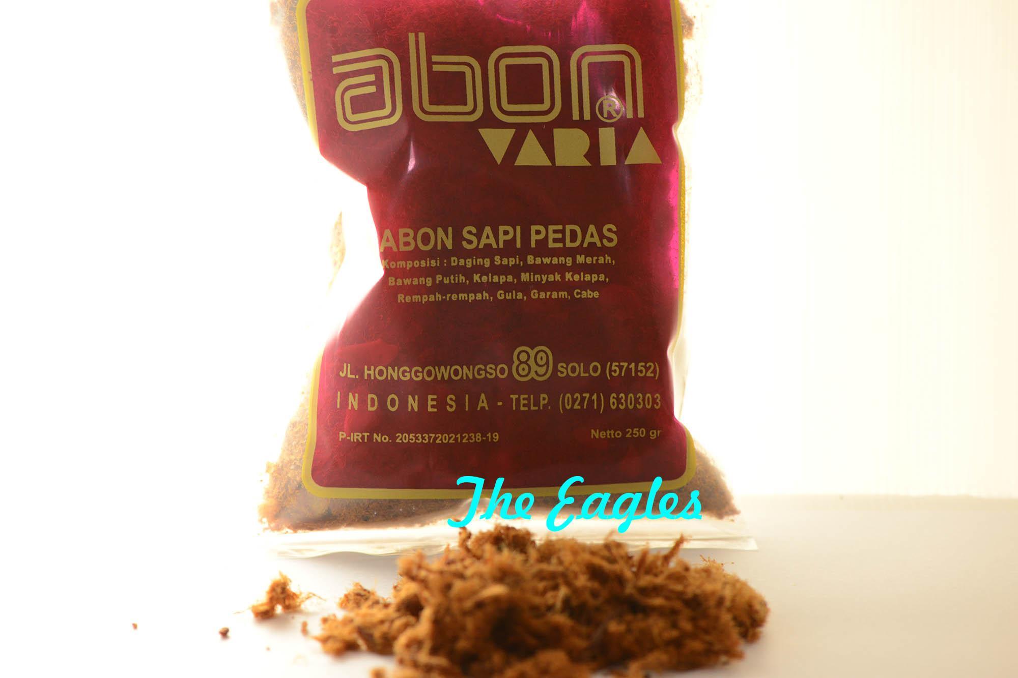 Abon Sapi pedas VARIA 250gr Oleh tradisional khas SOLO enak gurih snack camilan goreng kering cita