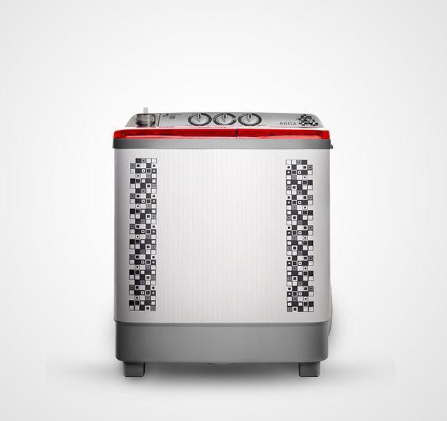 Arisa WM-9975 Mesin Cuci Twin Tub Double Pulsator 9Kg- Super Lowwat 45watt Pengering -Free Ongkir JABODETABEK