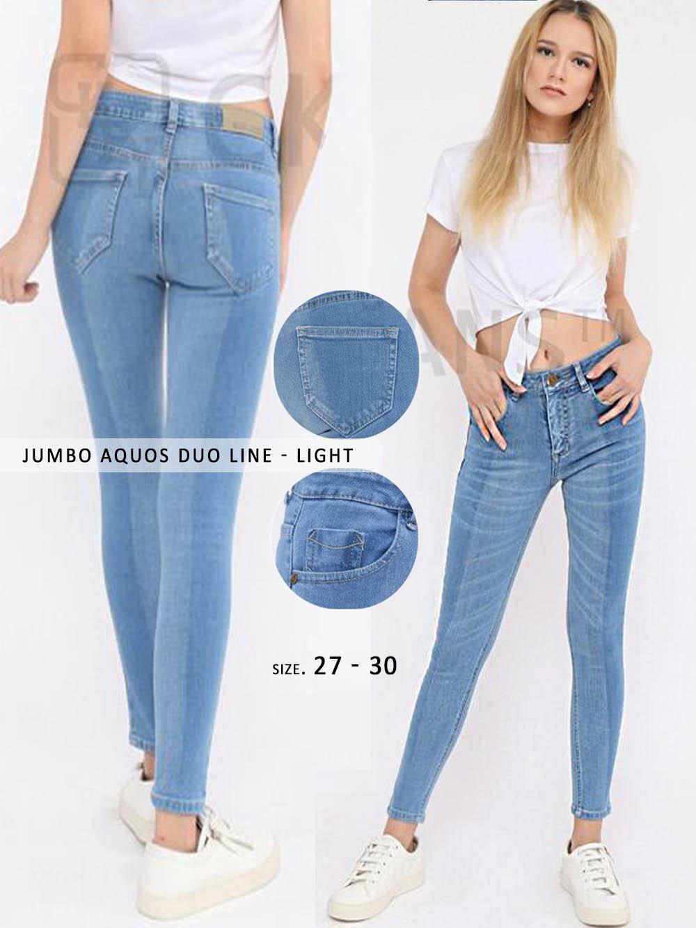 Celana Skinny Jeans Wanita - JUMBO AQUOS DUO LINE GCK 8392122