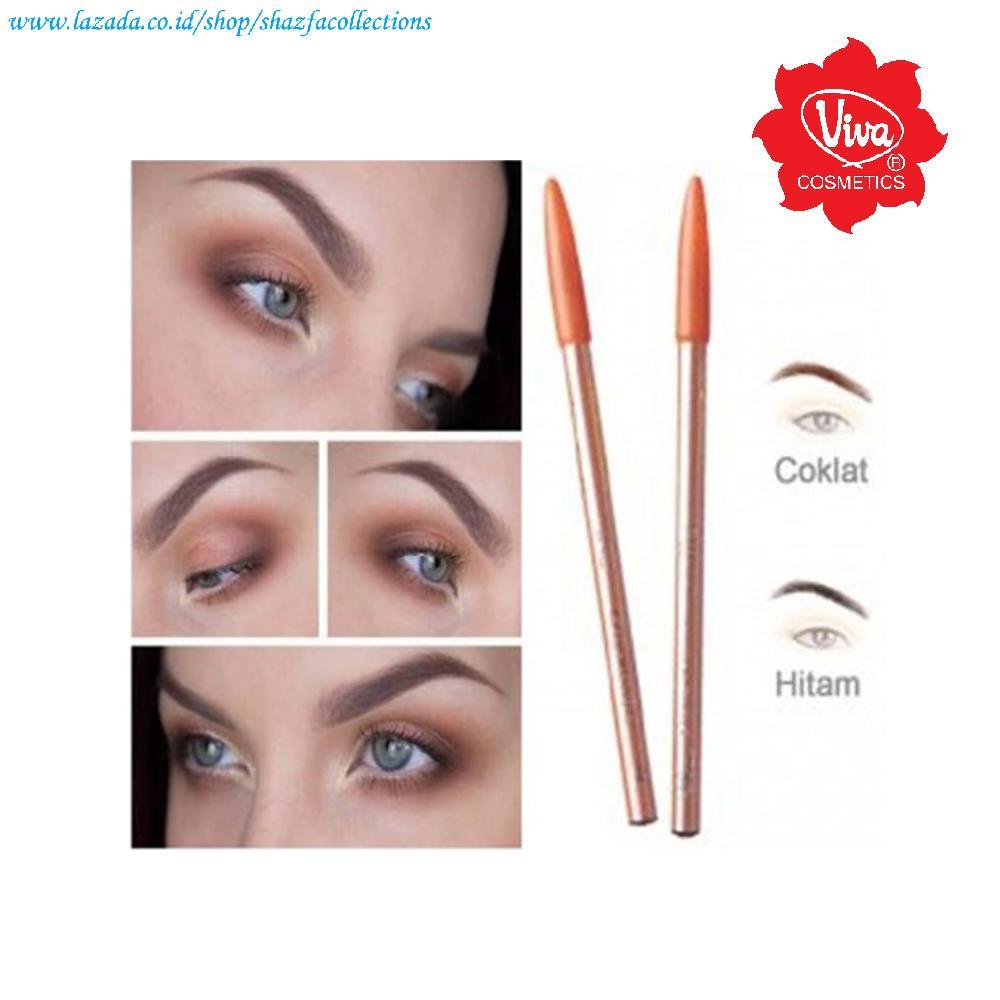 Viva Pensil Alis - Pencil Eyebrow Viva - Warna Coklat dan Hitam