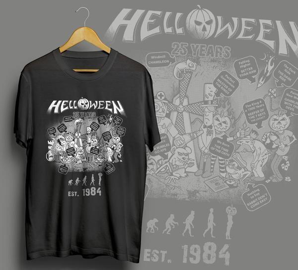 Kaos Helloween Konser Live In Jakarta Dan Yogyakarta - Indonesia 2015