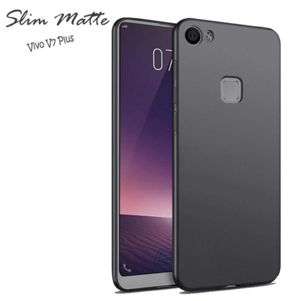 Softcase Black Matte Carbon Hp Vivo V7 Plus Silikon Babyskin