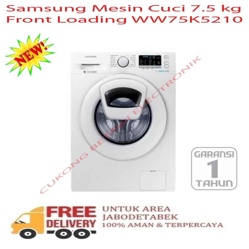 Samsung WW75K5210YW Front Loading Washing Machine [7.5 kg]-KHUSUS JABODETABEK
