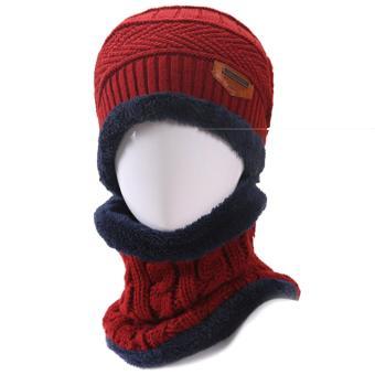 Pencarian Termurah 2 Pcs Unisex Winter Knit Hat dan Leher Hangat Syal Set  Pria Wanita Tebal Rajutan Skull Cap Beanie Hat Hangat Syal  Merah-Internasional ... 82815ceb59