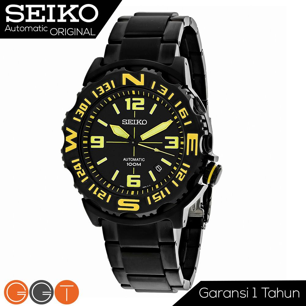 Seiko Superior Automatic Superior Divers Men's Watch - Jam Tangan Pria - Stainless Steel Strap - Automatic Movement- SRP449K1 - Black Promo