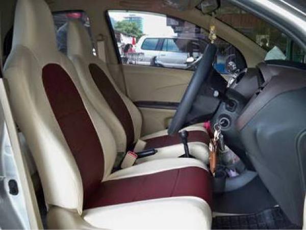 Sarung Jok Kulit Mobil Bahan Cherokee khusus Mobil Brio 2 Baris / Interior Mobil
