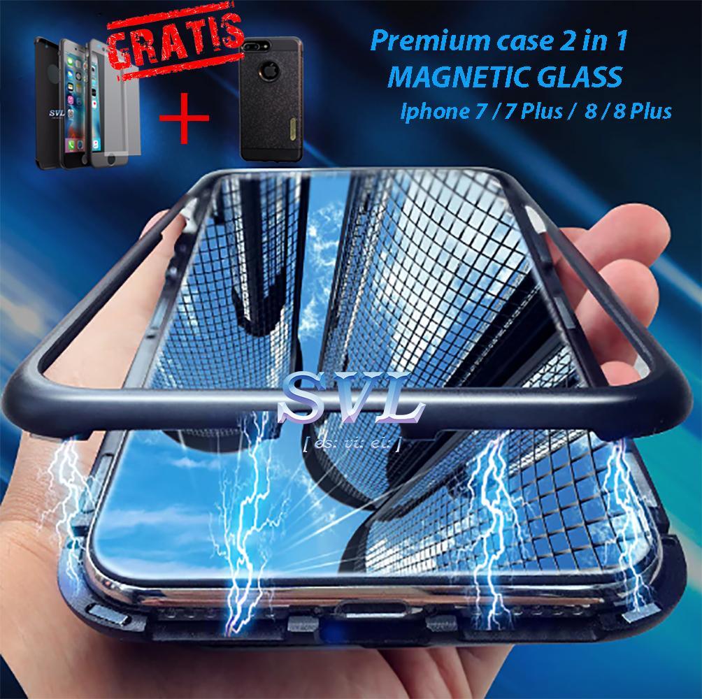 Premium Case 360 Full 2 in 1 MAGNETIC GLASS Iphone 8 ( + BONUS )
