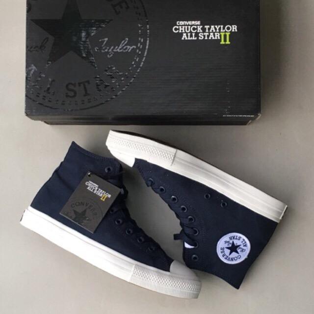 Sneakers Pria Converse Allstar Chuck Taylor Dress Blue Original Import