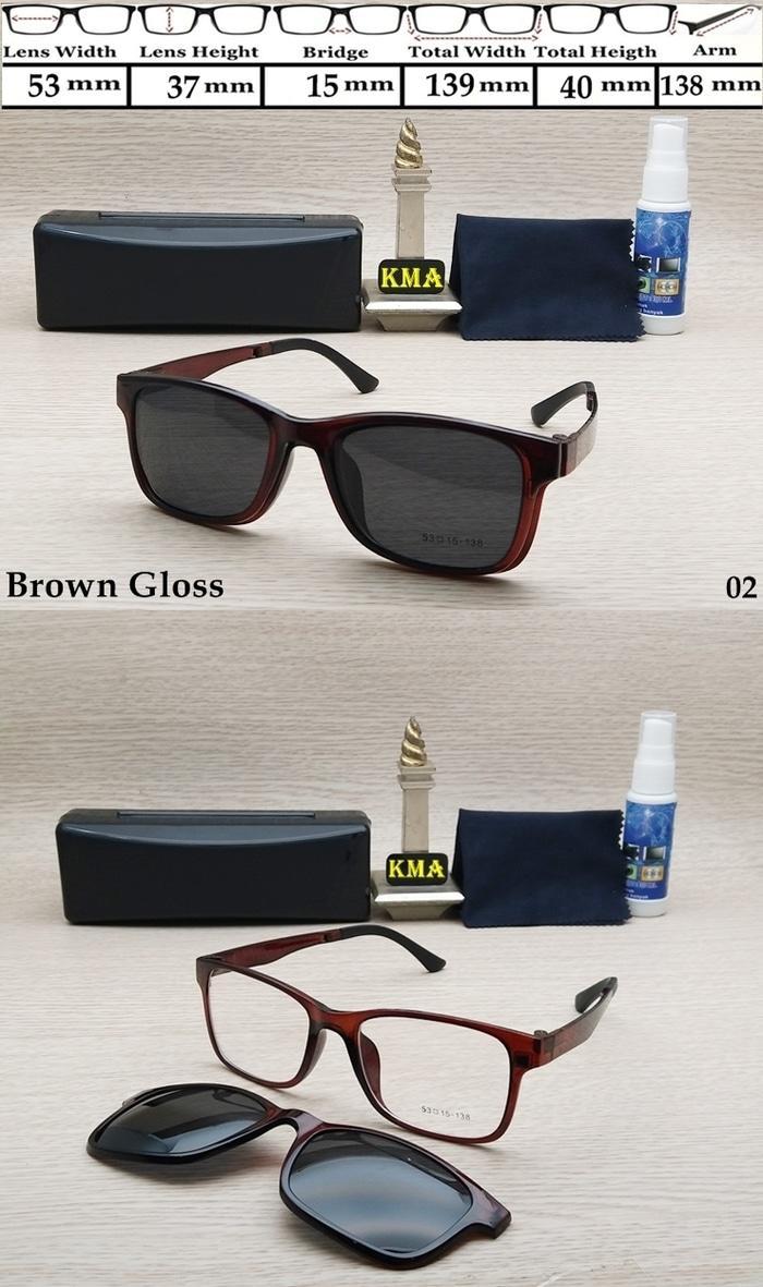 Buy Sell Cheapest Frame Kacamata Lentur Best Quality Product Deals Minus Kotak Terlaris New Promo Klip On Klipon Elastis