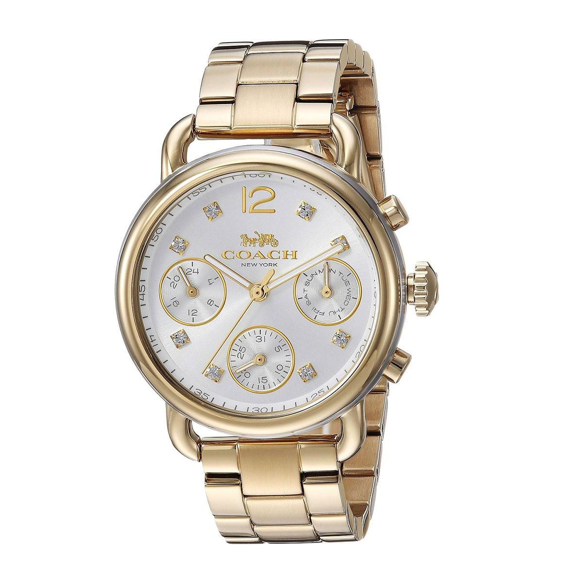 Coach Coach Delancey Gold Stainless-Steel Case Stainless-Steel Bracelet Ladies NWT + Warranty 14502943