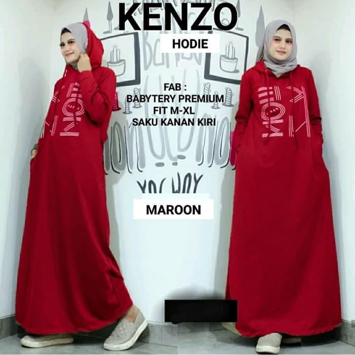 Dress Wanita Muslim Hijab Maxi Gamis Kendari - Maroon