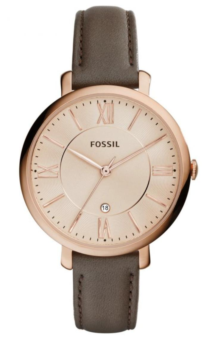 Buy Sell Cheapest Fossil Fs5415 Jam Best Quality Product Deals Tangan Pria Minimalist Slim Light Brown Leather Fs5305 Es3707 Jacqueline Rose Gold Dial Grey Strap Watch