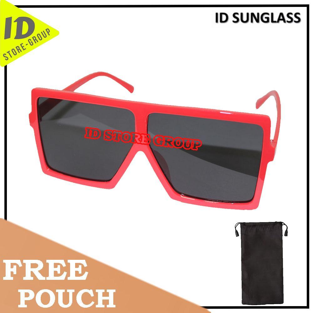 ID Sunglass - Wayfar D-Frame Pria Wanita Frame - Merah Lensa - Hitam  SUN 1070-03
