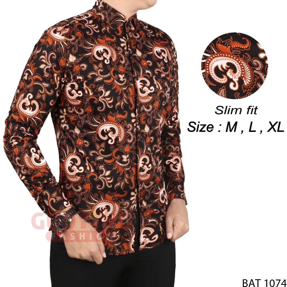 Gudang Fashion - Batik Slimfit Panjang Pria