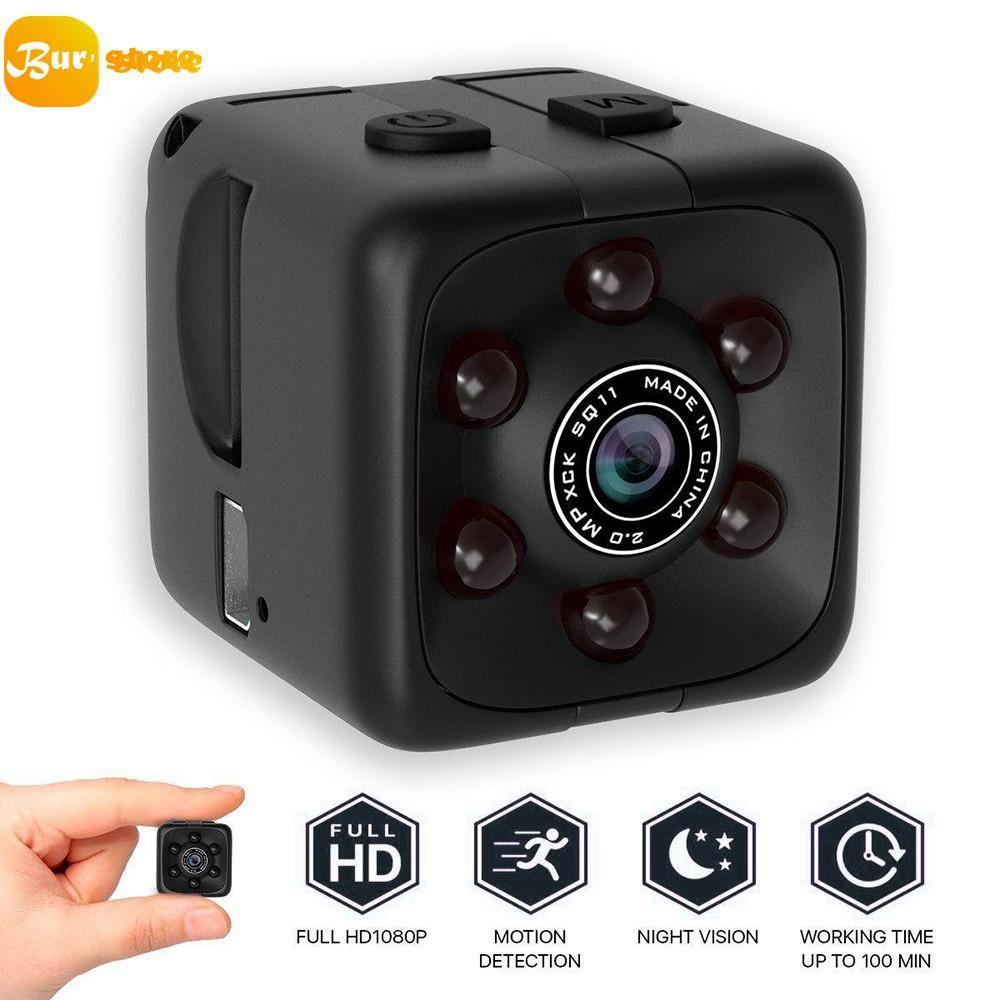 Jual Kamera Mini Spy Cam Kacamata Slot Micro Sd Camera Pengintai Mata Burstore Sq11 Hd Kecil 1080 P Sensor Modus Malam Camcorder Video Mikro
