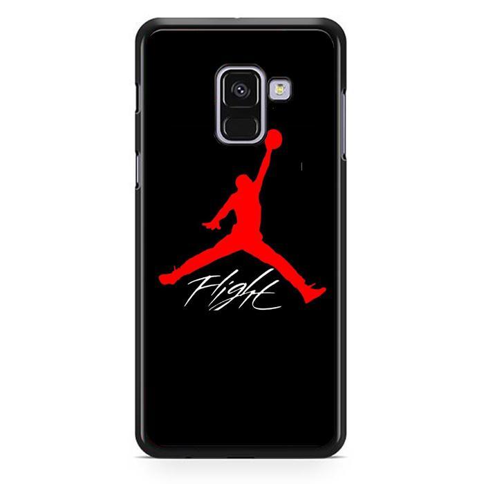 Casing Hardcase Samsung Galaxy A8 2018 Motif Jordan Flight X4865