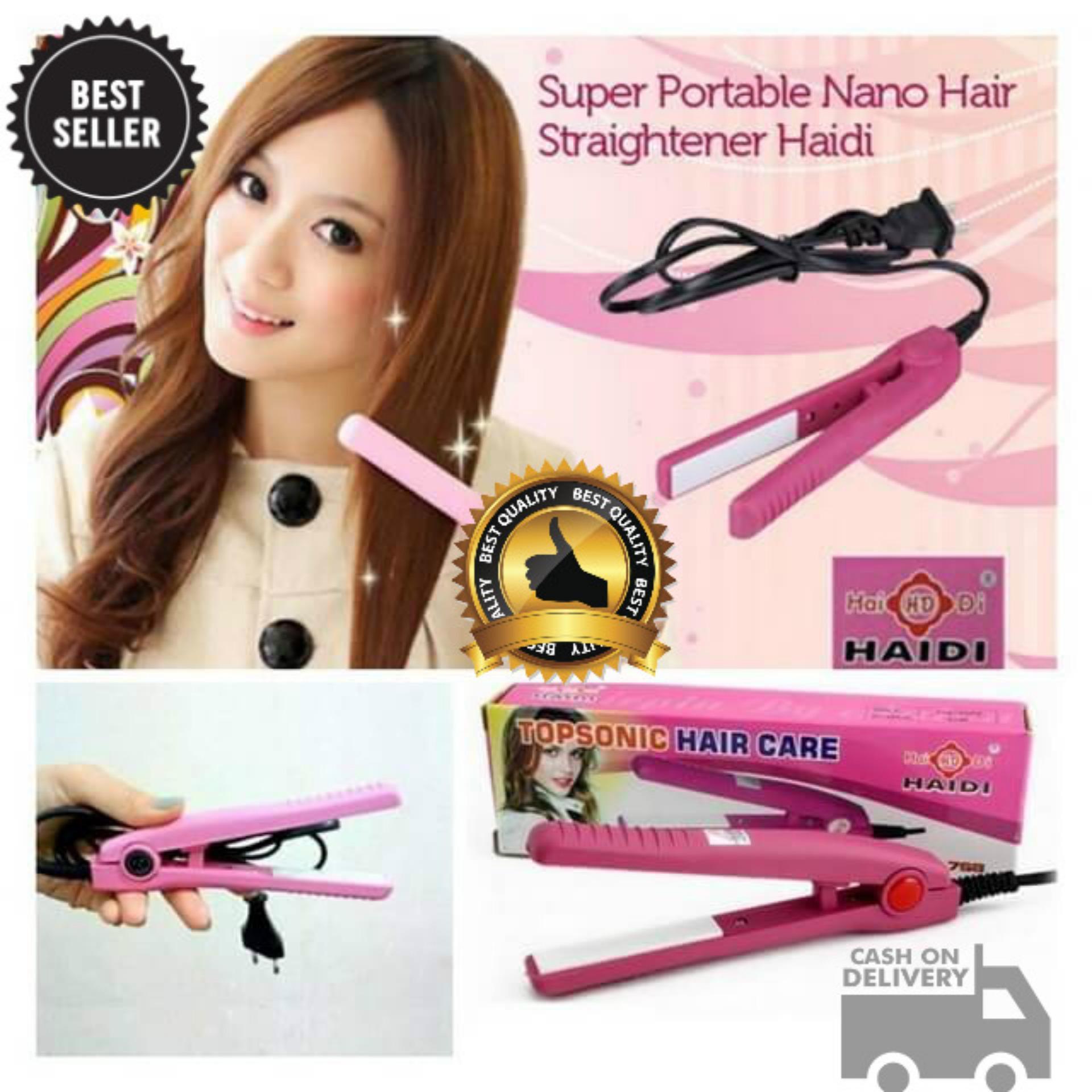 Big King Shop - Catok Pelurus Pengeriting Rambut Asli Mini Curly Hair Wanita Catokan Portable Kecil Praktis Ringan Mudah diaplikasikan Poni Pendek 110-220V