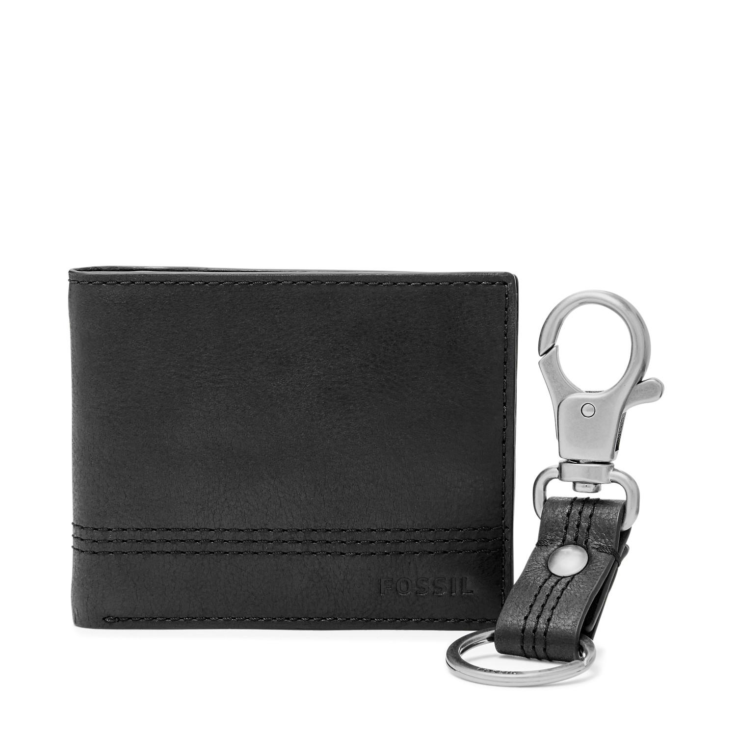 Buy Sell Cheapest Fossil Pria Fs5271 Best Quality Product Deals Jam Tangan Minimalist Slim Light Brown Leather Fs5305 Kyle Rfid Traveler Keyfob Gift Set Black Sml 1566001
