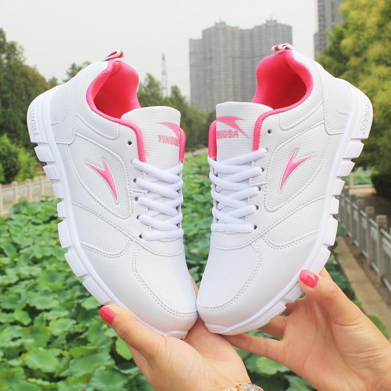 Adalah Gaya Baru Mudah dan Nyaman Tali Wanita Kasual Sepatu Mahasiswa Atletik Sepatu Wanita Kulit Mie Yang sepatu Datar Bawah Daftar Sepatu Lari Shoe Wanita Tour Sepatu-Internasional