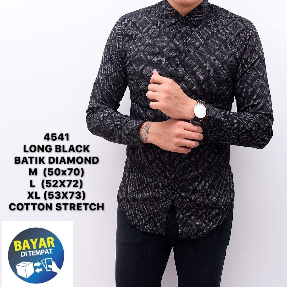 kemeja batik songket pria atasan formal/batik songket pria slimfit/baju cowok distro premium 4541