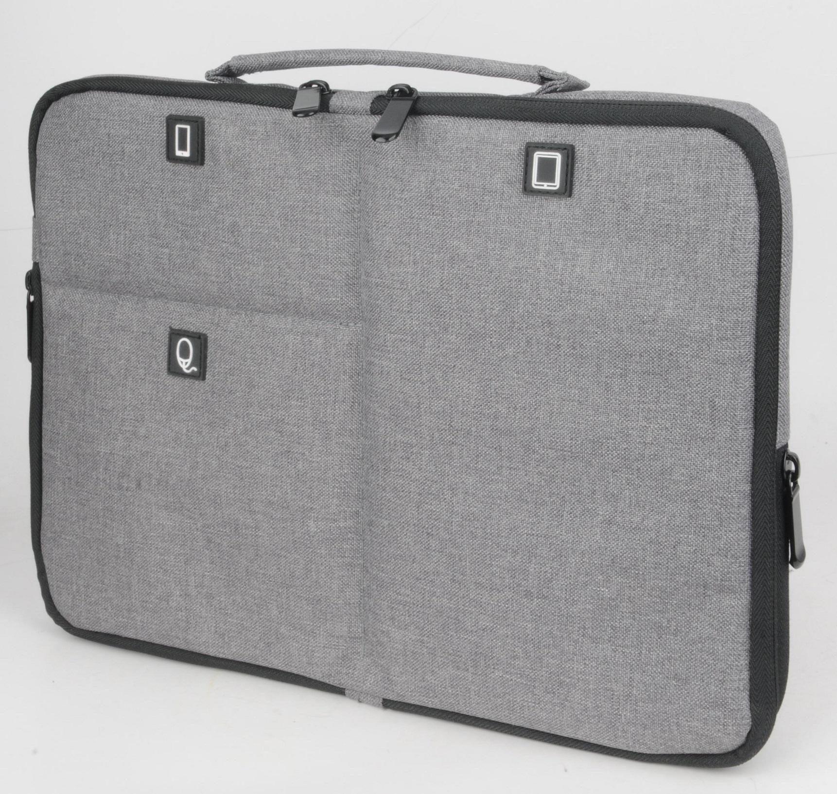 Techwaves 13.3-inch Multifunctional Laptop Sleeve with Handle, Water Resistant, Shock Resistant, for MacBook, MacBook Air, MacBook Pro, HP, Dell, Lenovo, Acer, ASUS, Toshiba, Notebook Chromebook Protective Carrying Case, Grey