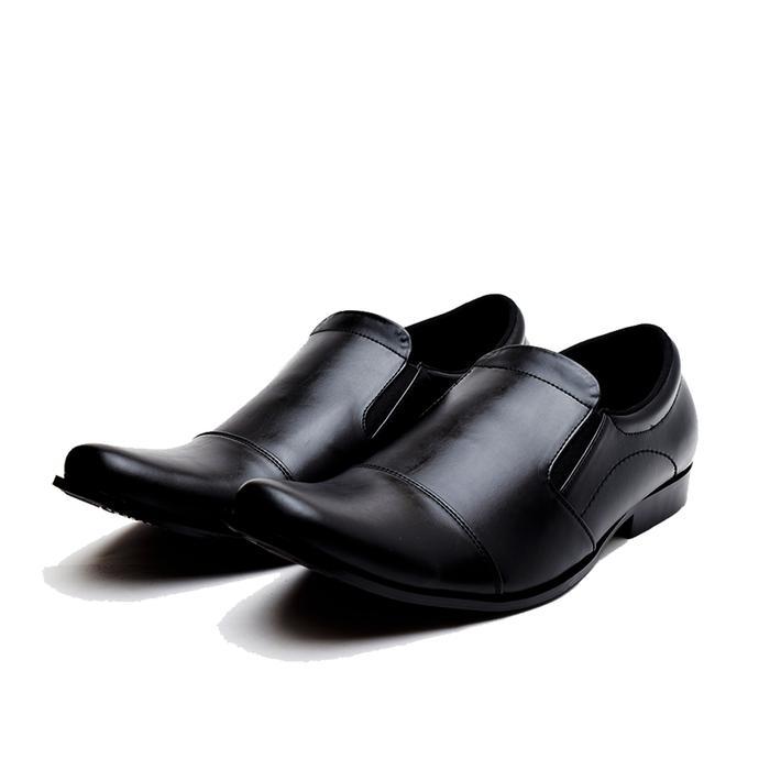 Sepatu Pantofel Kerja Pria Kulit Big Size 44,45,46 utk formal dn pesta - Hitam, 44 - Sepatu Modern - Sepatu Elegan - Sepatu Best Seller - Sepatu Best Quality