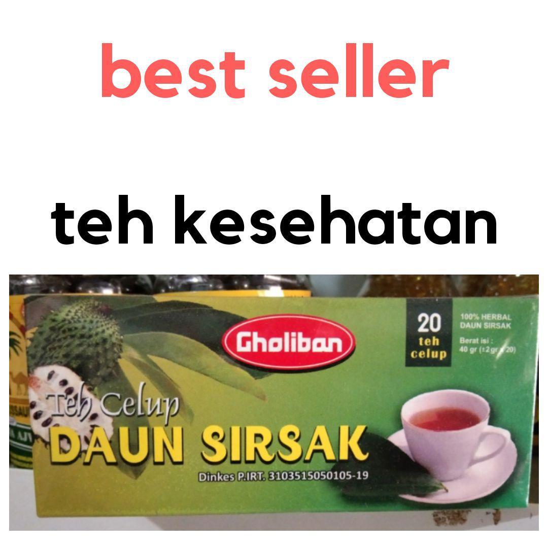 Buy Sell Cheapest Gholiban Teh Daun Best Quality Product Deals Herbal Sirsak Kemasan 1 Box 25 Celup Kesehatan