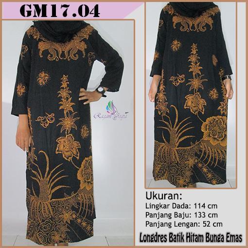 Promo Hanya Hari Ini Daster Longdress Batik Hitam Bunga Emas Longdress Keren  Longdress Moderen