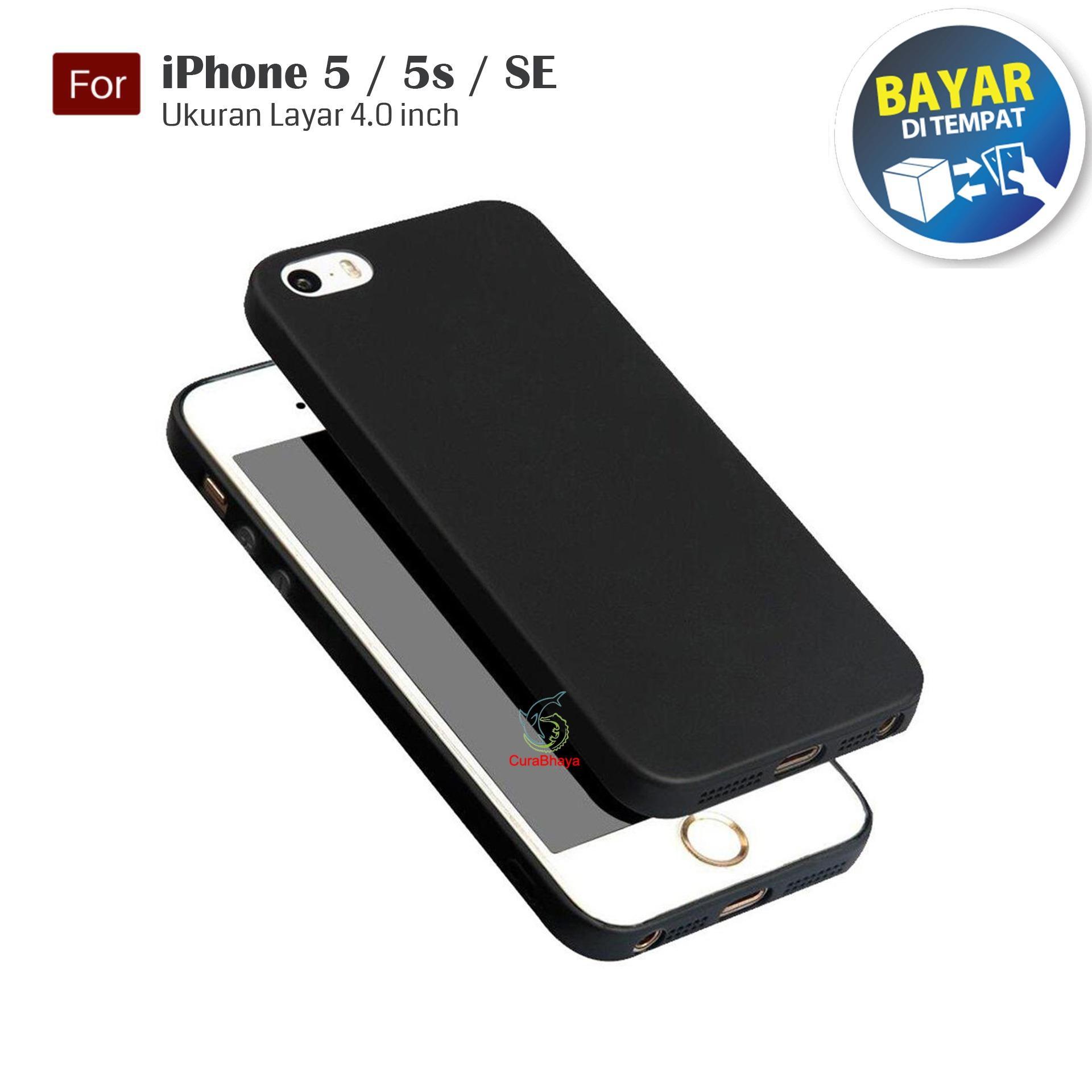 MidNight iPhone 5 / 5G / 5S / SE | Slim Case Black Matte Softcase Premium Baby Skin - Hitam