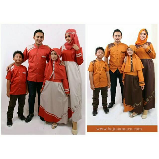 Samara Family Couple D02 / Baju Koko dan Gamis / Baju Muslim (Gamis Anak uk 12)