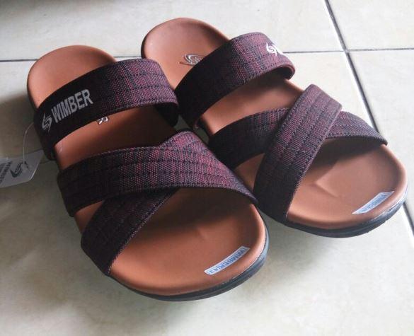 Sandal Santai Pria Selop Maroon  BO3-MR