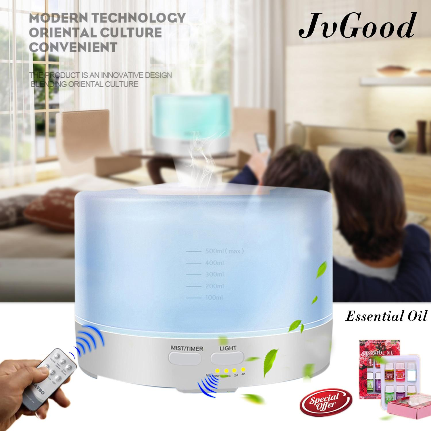 JvGood Air Humidifier Ultrasonic Aroma Diffuser Cool Mist Humidifier Essential Oil Diffuser Aromatherapy Diffuser Wooden Air