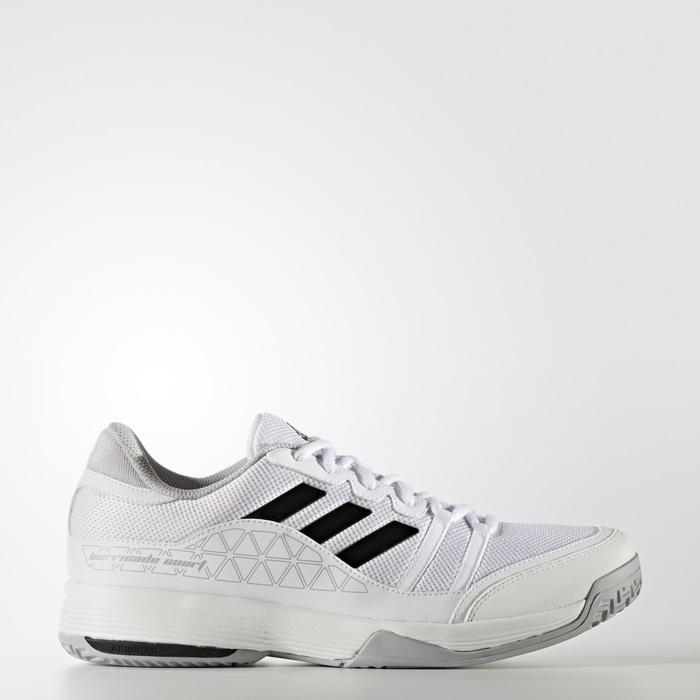 Sepatu Tennis Adidas Barricade Court Wide - White Original