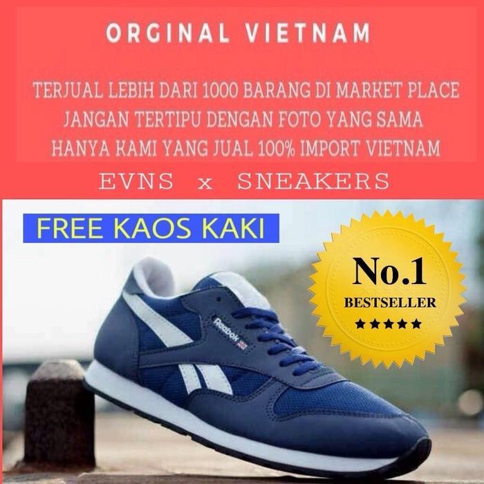 SEPATU SPORT PRIA REEBOK CLASSIC RUNNING BAGUS Asli Murah Terbaru Branded Original