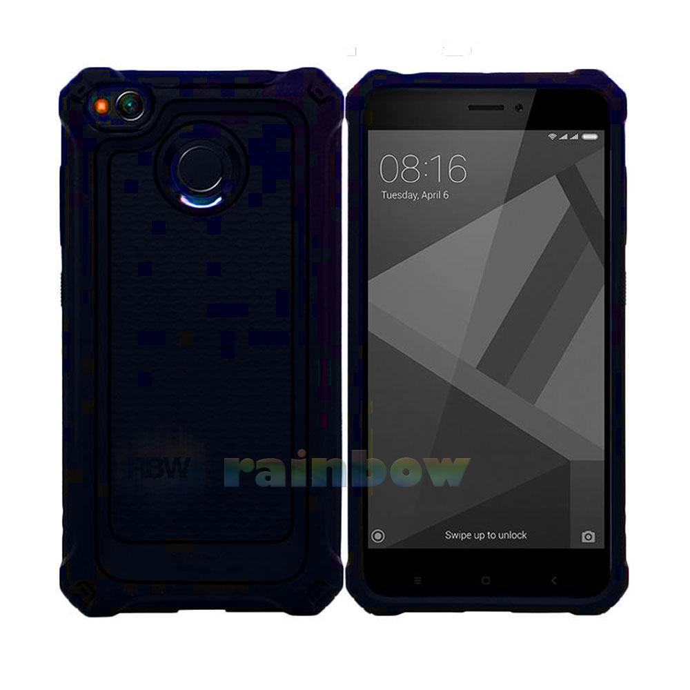 Rainbow Xiaomi Redmi 4X Soft Case Ultra Rugged Armor Extra Slim capsule Line Glossy Design & Spider Interior  Anti Slip Anti Shock / TPU Silikon Back Cover / Silicone Case / Softshell / Case Hp / Back Cover / Casing Xiaomi- Biru tua Cyan