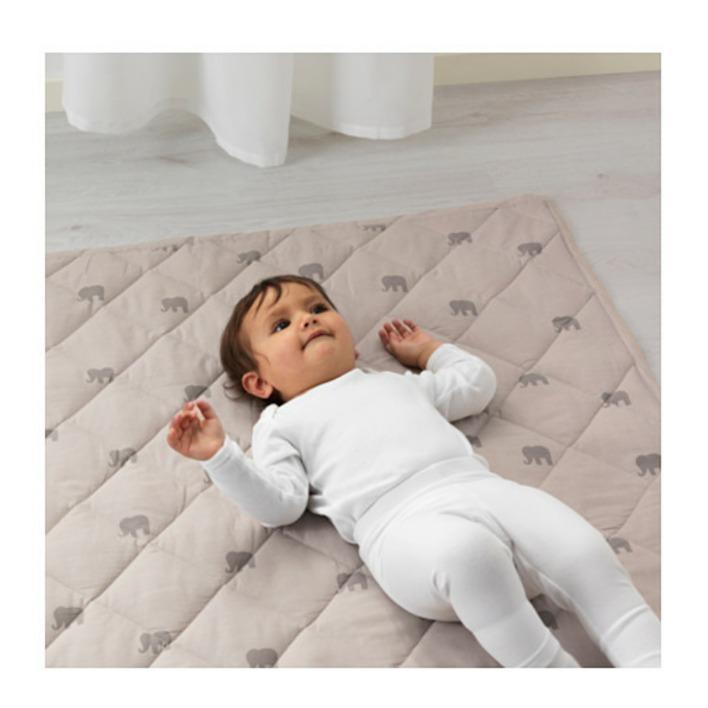 PROMO IKEA CHARMTROLL Quilt/Selimut Motif Gajah, Krem Putih ORIGINAL