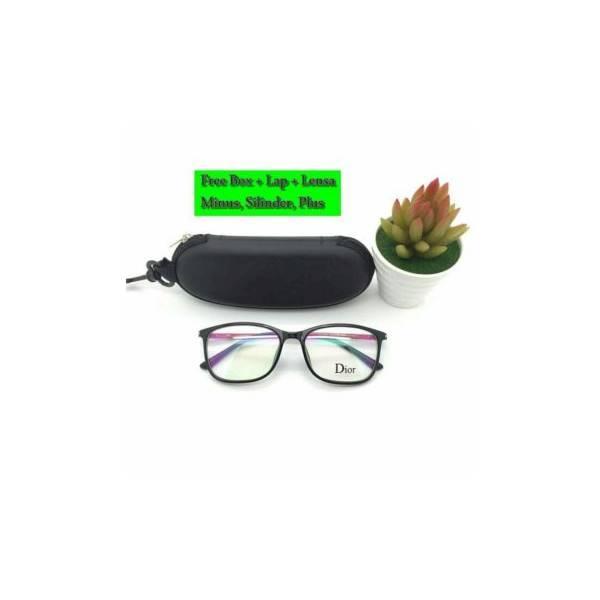 Bonus Lensa Minus Silinder Plus Frame Kacamata Dior R2066 E