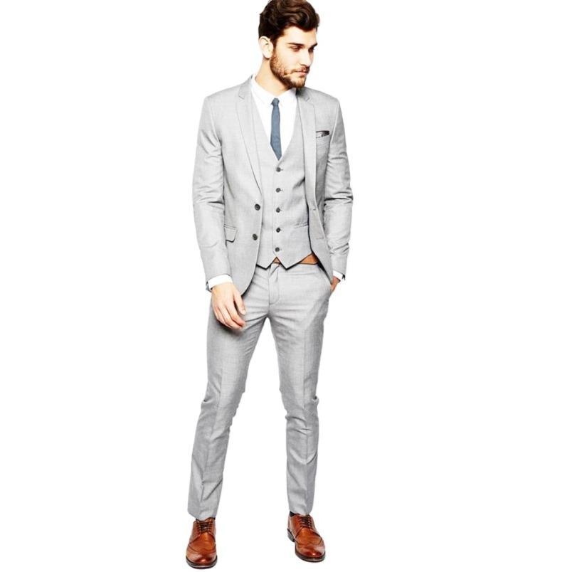 Folkstore - Setelan Jas Wedding Elegant Design - Jas Prewedding - Jas Kerja (Jas+Vest+Celana) - Stone Blue