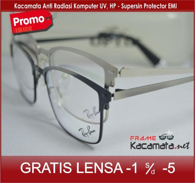Frame Kacamata 212606 + Lensa minus/plus/silinder untuk pria dan wanita kacamata baca / resep.