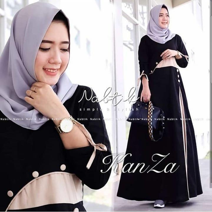 Baju Muslim Original Gamis Kanza Dress Wolfice Baju Panjang Muslim Dress Casual Wanita Pakaian Hijab Modern Gamis Modis Trendy Gaun Terbaru 2018