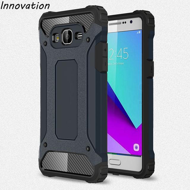 Hardcase Casing Handphone Spigen Iron Man Case Samsung Galaxy J2 Prime-/ Granprime /;