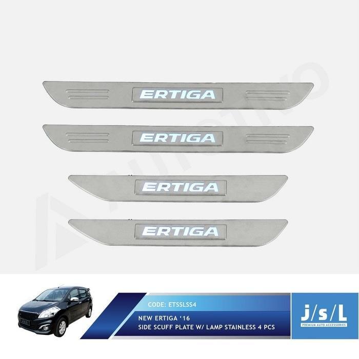 Suzuki Ertiga Sillplate Samping w/ Lamp/Scuff Plate Stainless