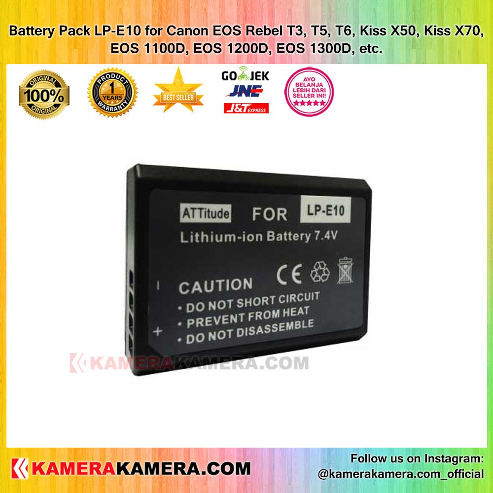 Battery Pack LP-E10 for DSLR Canon EOS 1100D EOS 1200D EOS 1300D
