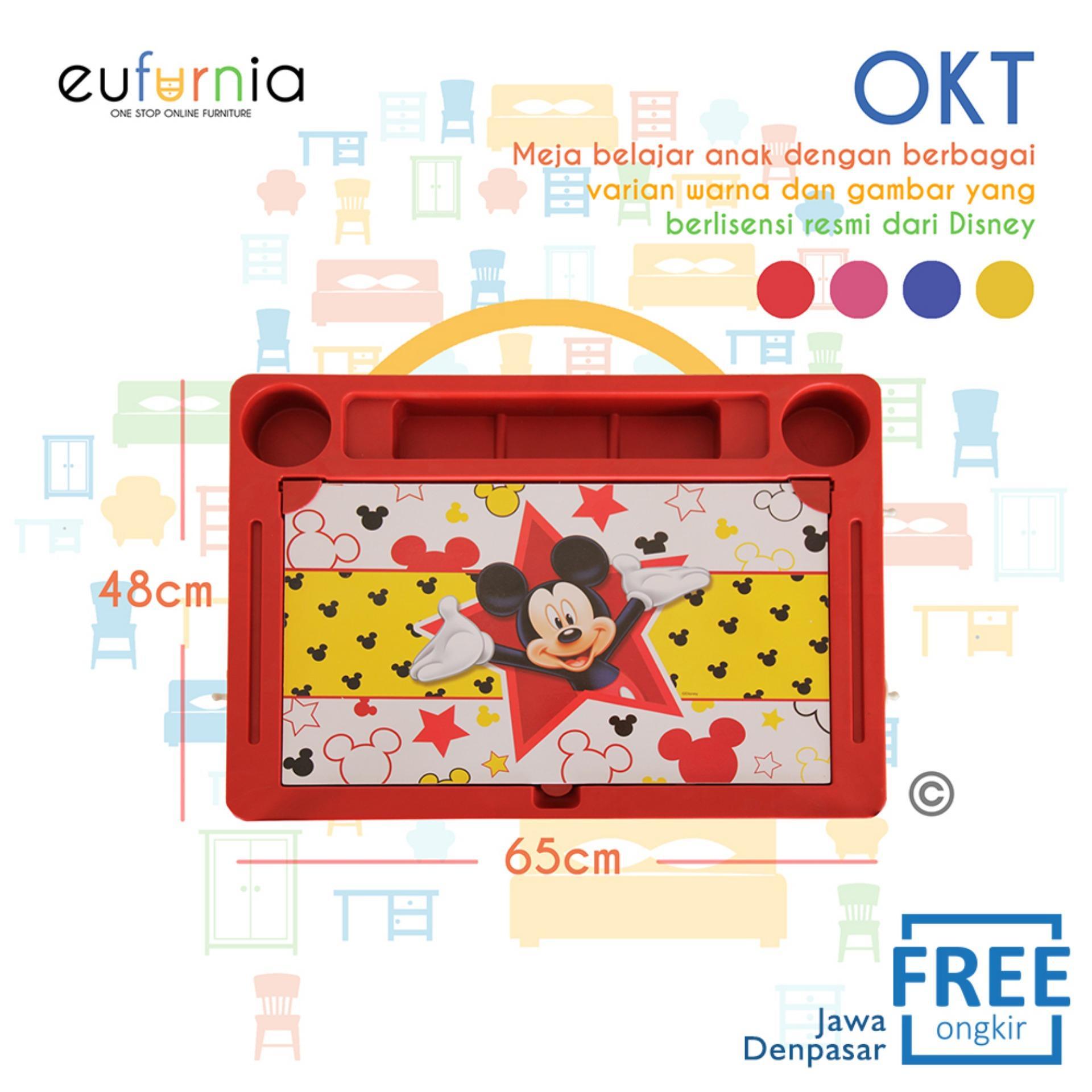 Meja Anak Karakter Eufurnia Olymplast Kids Table  OKT / Merah / 100% FREE ONGKIR JAWA DENPASAR