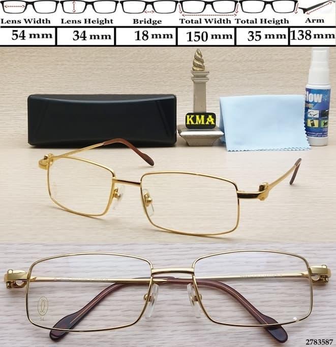 kacamata minus baca frame CARTIER kacamata baca frame plus metal