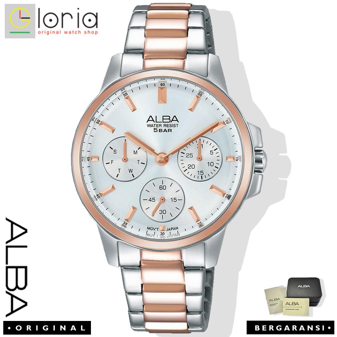 Alba AP64 series Jam Tangan Wanita Analog Starp Stainless Stell Silver Gold jam tangan alba