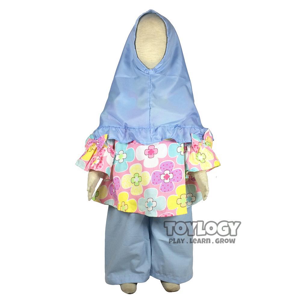 Baju Muslim Anak - Grow Baju dan Celana Setelan Muslimah Anak Mariyam - Baju Tunik Anak