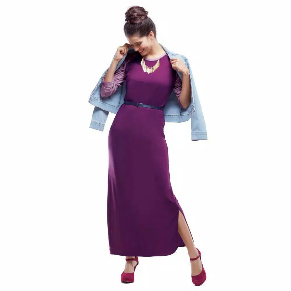 ... Sophie Paris Longdress Gamis Odelia Purple