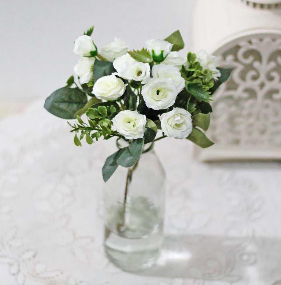 bunga plastik hias artificial artifisial kuncup MAWAR shabby chic A2-6